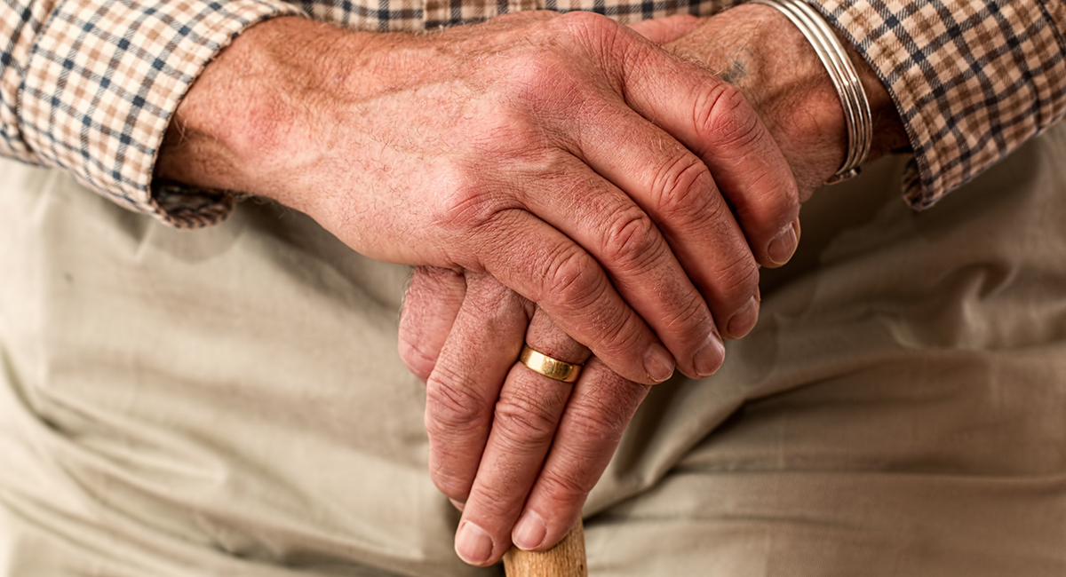 Elderly Man Hands Header